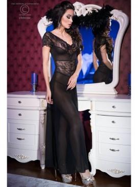 Black Longgown+String