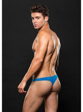 LaceUp Thong S/M Blue