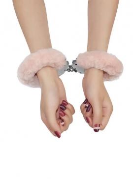 Fluffy Hand Cuffs pink