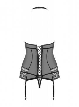 Corset & thong black S/M